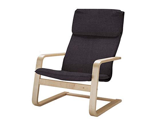 Vinylla Ikea Pello - Funda de repuesto para sillón (algodón, color gris oscuro)