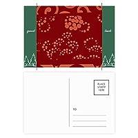 中国の日本語スタイルのアジアウェーブドットパターン グッドラック・ポストカードセットのカードを郵送側20個
