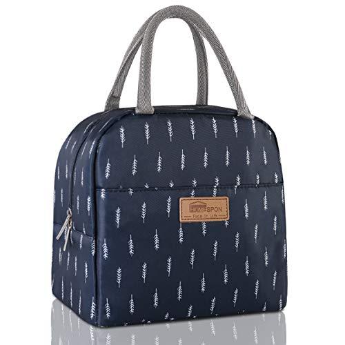 HOMESPON Lunchtasche Isolierte Reisetasche Süße Canvas Stoff mit Aluminiumfolie, Stoffdruck Lunch Handtasche Faltbar für Frauen, Männer, Schule, Büro
