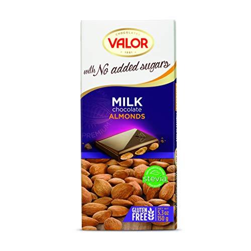 Chocolates Valor Chocolate con Leche y Almendras, 150g
