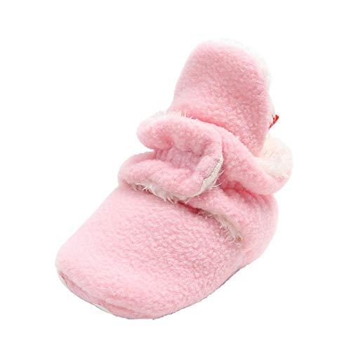 QUUY Kleinkin - Zapatos de peluche, cálidos, botines de algodón con suelo suave antideslizante, el mejor regalo para niños pequeños de 0 a 1 años