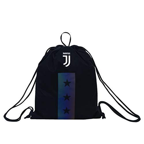 Sacca Juventus Sakky Bag, Nero, Flash Effect, Scuola Sport & Tempo Libero