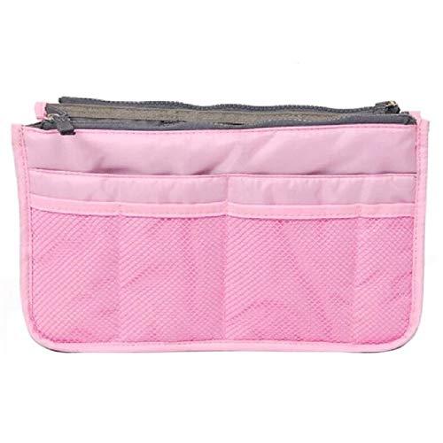 Sac cosmétique Sac de Maquillage Organisateur Voyage Portable Pouch beauté Fonctionnelle Sac de Toilette Maquillage Maquillage Organisateurs Téléphone Sac Case (Color : Pink)