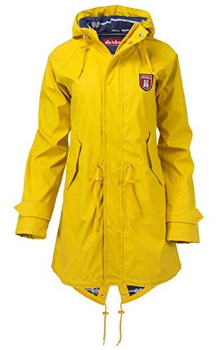 Damen Mantel Derbe Travel Friese Coat, Gelb , Eu-36