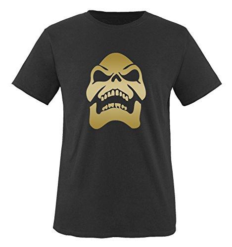 SKELETOR - Herren T-Shirt in Schwarz/Gold Gr. XL