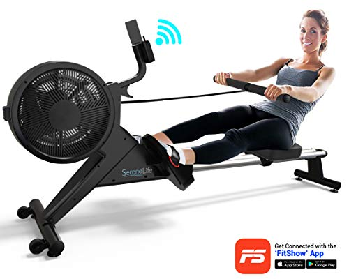 4. SereneLife Smart Air-Magnetic Resistance Rowing Machine