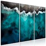 murando Cuadro Acústico Abstracto 135x90 cm 3 Partes Impresión Artística Lienzo de Tejido no Tejido Decoración de Pared Aislamiento Absorción de Sonidos - Mar Barco Laguna Azul Paisaje c-C-0453-b-e