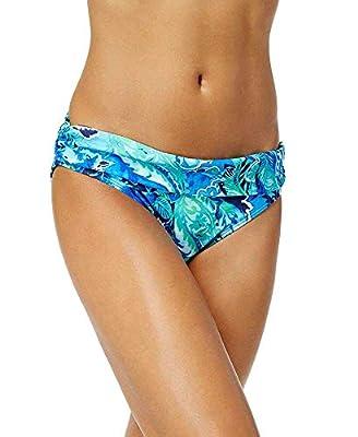 Ralph Lauren Womens Exotic Paisley Shirred Banded Hipster Bikini Bottom 6 Blue