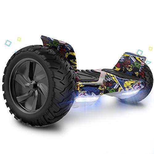 GeekMe Hoveboard 8,5 Zoll Elektro Scooter E-Scooter mit Bluetooth App leistungsstarker LED-Motorbeleuchtung für Erwachsene und Kinder
