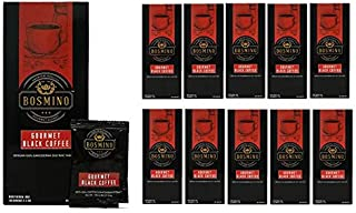 Bosmino 11 Boxes Arabica Black Coffee Certified Organic Ganoderma Lucidum (1 Box: 30 Sachets)