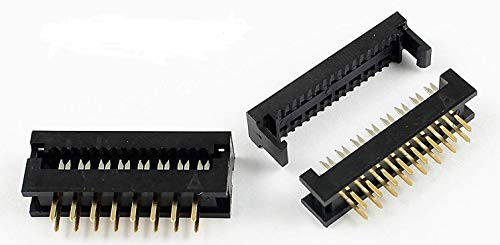 Connectors Pro 10-PK 2.54mm D-sub 25 Pins F IDC Crimp Connector DB25 Female for 1.27mm Flat Ribbon Cable Pc Accessories 10-Pack