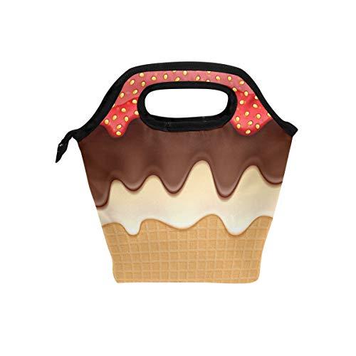 Use7Schokolade Eis Kuchen Isolierte Lunch Bag Tasche Cooler Lunchbox für Picknick Schule Frauen Herren