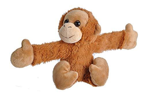 "Wild Republic Huggers Orangutan Plush Toy, Slap Bracelet, Stuffed Animal, Kids Toys, 8"", Tan"