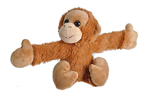 Wild Republic Huggers Orangutan Plush Toy, Slap Bracelet, Stuffed Animal, Kids Toys, 8'