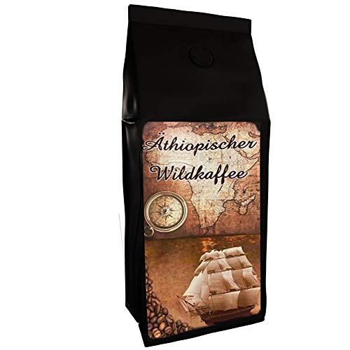 Wildkaffee Kaffeebohnen aus Äthiopien 500 g Kaffee ganze Bohne