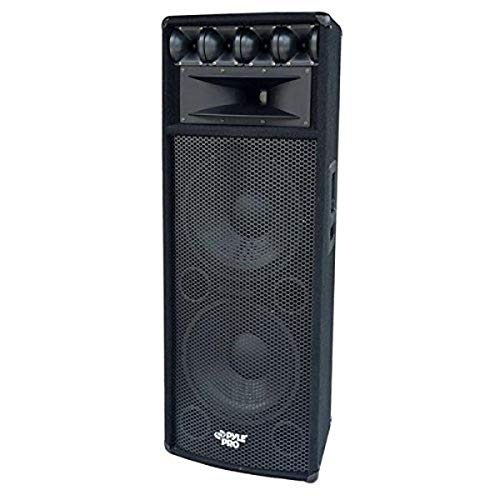 Portable Cabinet PA Speaker System - 1600 Watt Outdoor Sound System Vehicle Stereo Speakers w/ Dual...