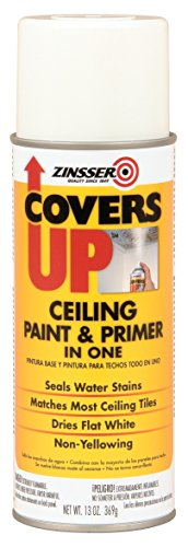 ZINSSER 3688 White Zinsser Covers up Ceiling Paint and Primer in 1, 13 Ounce Aerosol Spray Can (Pack of 6)