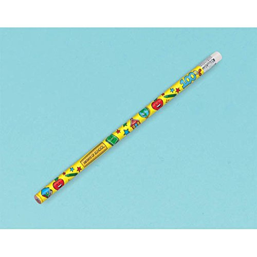 Amscan 399462 100th Day of School Pencils, 12ct