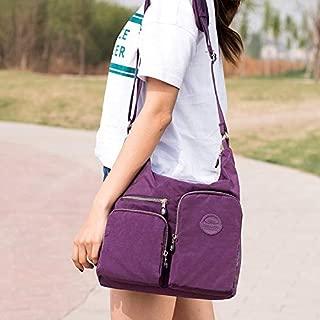 DXFEEL Single Shoulder Bags Leisure Fashion Nylon Waterproof Slant Shoulder Bag(Purple)