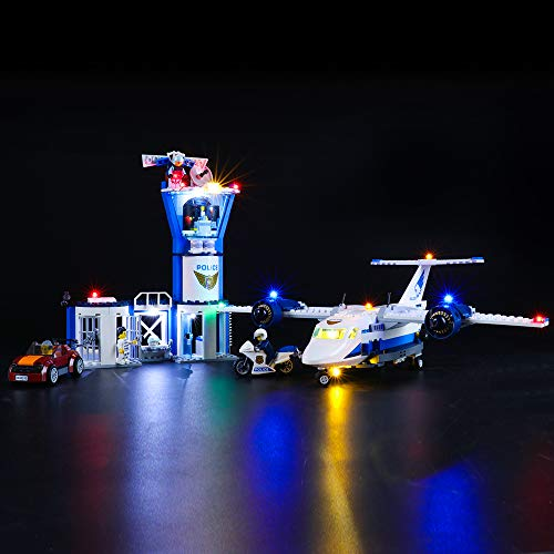 BRIKSMAX Led Beleuchtungsset für Lego City Polizei Fliegerstützpunkt,Kompatibel Mit Lego 60210 Bausteinen Modell - Ohne Lego Set