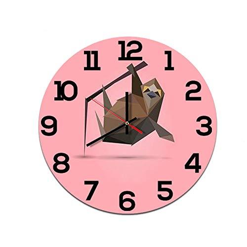 LUOYLYM Origami Animal Creative Home Reloj De Pared Acrílico Decoración De Pared Reloj Mudo Movimiento Espejo Reloj F514-155 28cm