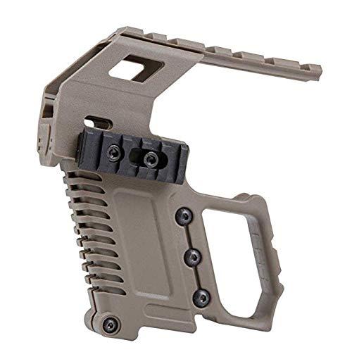 Gexgune Tactical Area Pistole Spielzeug Karabiner Kit Installation W/Rail Panel ABS für Glock G17 G18 G19 GBB Serie Ladezubehör (2 Farben optional)