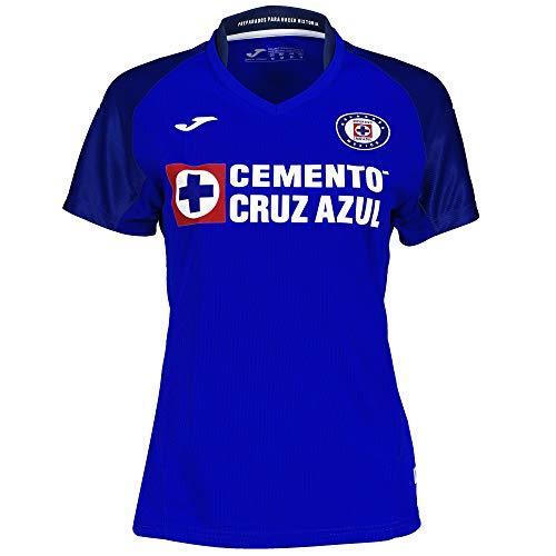 Joma 1ª Camiseta Cruz Azul M/C Mujer, L, Royal