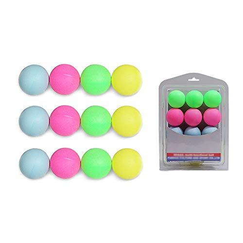Nullnet Pelota de Ping-Pong de 12 Piezas, Kit de Pelota de Tenis de Mesa, Colorido, para El Juego de La Suerte de Tenis de Mesa