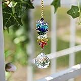 H&D, atrapaluz chakra de prismas arcoiris pendientes, candelabro con esferas de cristal