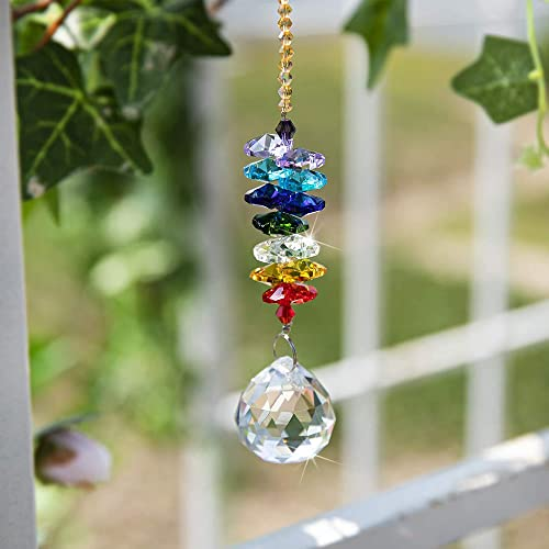 H&Amp;D 30Mm Chandelier Crystals Ball Prisms Rainbow Octogon Chakra Suncatcher For Gift