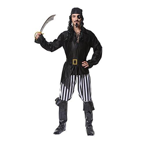 SEA HARE Trajes de Disfraces de Halloween para Hombres Piratas