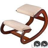 Happybuy Ergonomic Kneeling Chair Heavy Duty Better Posture Kneeling Stool Office Chair Home for Body Shaping Relieveing Stress Meditation Desk Computer Kneeling Stool Chair(Pecan)
