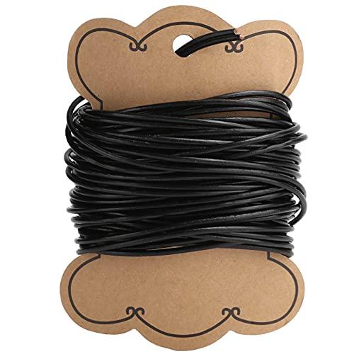 32,8 pies hilo de abalorios cordón de joyería hilo de microfibra cuero DIY cadena para pulsera collar joyería fabricación artesanal(2mm)