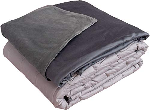 Active Corner 15 lb Weighted Blanket | 60'x80' | Queen Size Heavy Blanket with All Seasons Bamboo/Minky Cover | Designed for Teens and Adults Weighing 120-170 lbs | Comfort Series by Cozy Mill