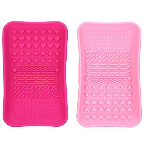 Cepillo Tablero de depurador Cepillo cosmético Estera de lavado Cepillo Estera de depurador para uso en salón de belleza para uso doméstico