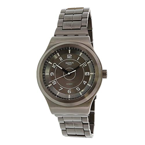 Swatch Men's Sistem 51 Irony YIM400G Grey Stainless-Steel Swiss Quartz Fashion Watch