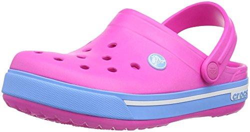 Crocs Crocs Crocband II.5 Clog Kids, Unisex - Kinder Clogs, Pink (Neon Magenta/Bluebell), 19/21 EU