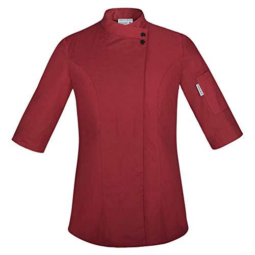 Food Chef Küchenjacke Weiß Hotel Uniform Sommer Restaurant Kellner Arbeitskleidung Kleidung Damen Küchenjacke,Red,S