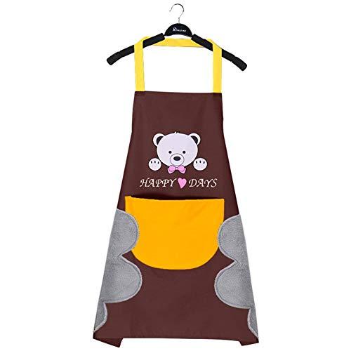 Verloco keukenschort, waterdicht, anti-schort, Japanse stijl, leuke motieven en stijlen, 3 lagen: ademend, waterdicht en vuilafstotend handdoekschort