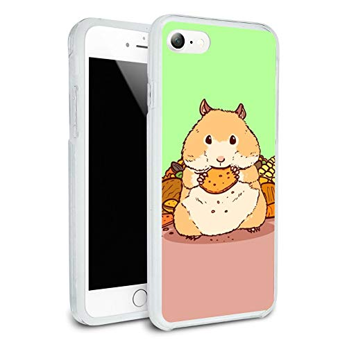 Hamster Eating Stash of Food Protective Slim Fit Hybrid Rubber Bumper Case for Apple iPhone 7 and 7 Plus