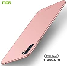 For Vivo X30 Pro Frosted PC Ultra-thin Hard Case Waterproof (Color : Rose gold)