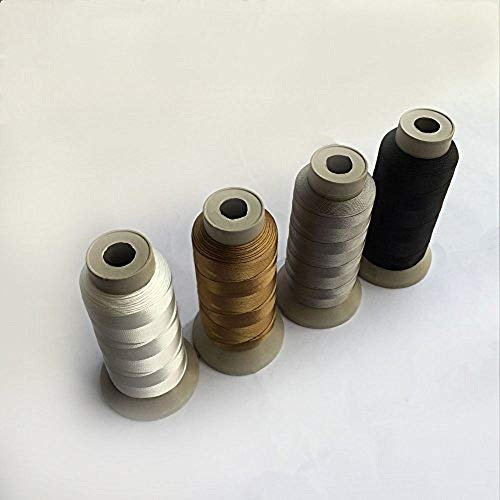 Eastern Fashional Life Heavy-Duty Size T70 #69 Bonded Nylon Sewing Thread - 1500 Yard Spool(Black&White&Grey&Brown)