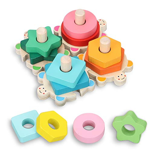 TsingBolo Wooden Stacking Toys f...