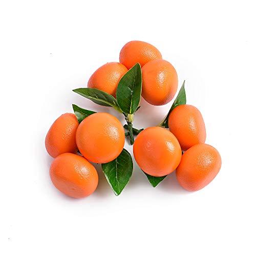 huianer 3 PCS Artificial Fruit Small Tangerine Orange Simulation Fake Lifelike for Home Party Kitchen Festival Decoration