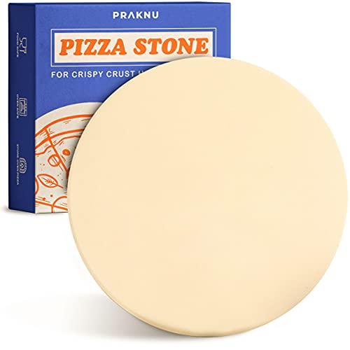 Piedra para Pizza para Horno y Grill - Redonda 30 cm Ø - para Masa de Pizza Crujiente - Plancha de Piedra Refractaria