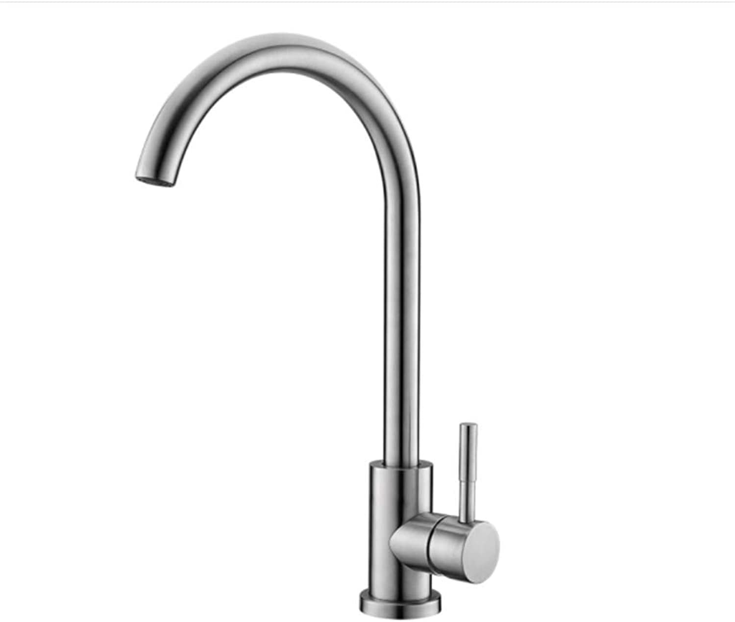 Basin Faucetkitchen Faucet Sink Dishpan 304 Stainless Steel Cold and Hot Faucet