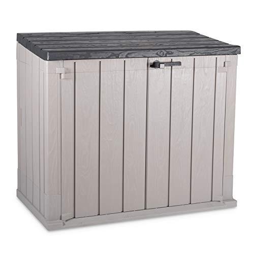 Toomax Baule portattrezzi Storer Plus, da Giardino, Art. 090, Dim. cm 129,5x74,5x111h, Colore Grigio Talpa/Antracite