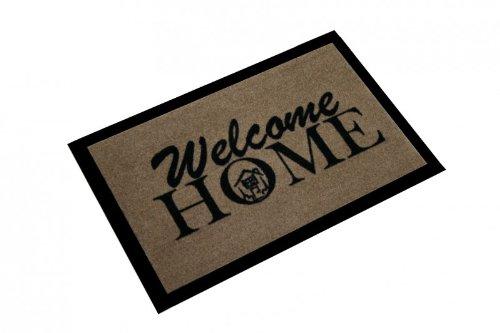 Hanse Home Fußmatte Schmutzfangmatte Welcome Home Braun, 40x60 cm