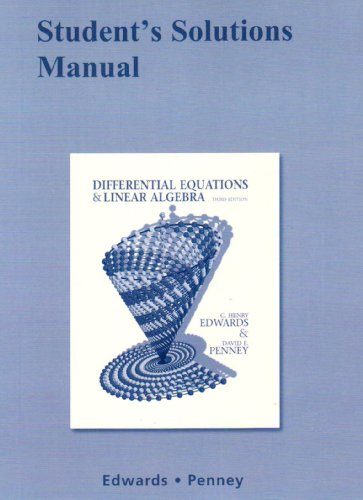 Student Solutions Manual for Differential Equations and...