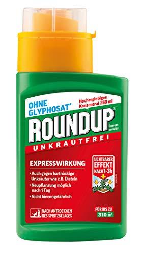 Roundup AC Unkrautvernichter Konzentrat, gegen Unkräuter, Gräser und Moos, Ohne Glyphosat, bis zu 310m², 250 ml